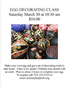 Egg Decorating Class
