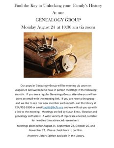 Genealogy Group at the Library!