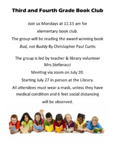 Third and Fourth Grade Reading Club