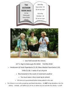 Outdoor Book Sale at the Library