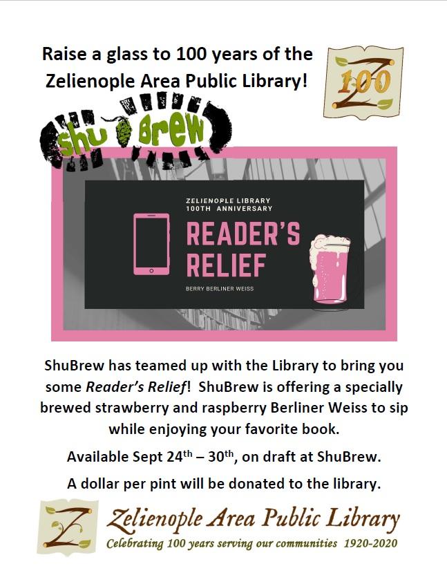Reader's Relief beer @ ShuBrew