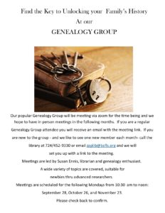 Genealogy Group Monthly!