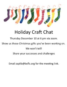 Holiday Craft Chat