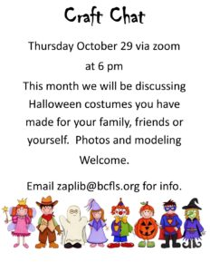 Halloween Craft Chat