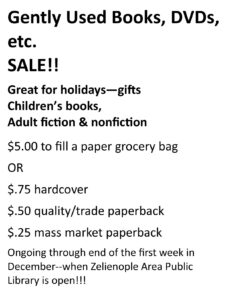 $5 Bag Sale - Gently Used Books and Other Items!