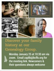 January Genealogy Meet!