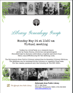 May Genealogy Group Meeting