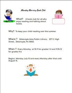 Upper Elementary Monday Morning Book Club!